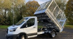 NEW MODEL FORD TRANSIT L2 CAGED TIPPER WITH TAIL LIFT